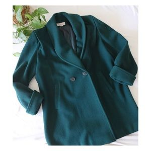 Vtg Westbound Green Wool Coat